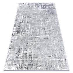 Modern Teppich MEFE 8722 Linien vintage - Structural zwei Ebenen aus Vlies grau / weiß