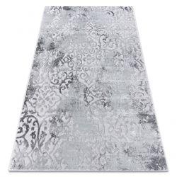 Modern Teppich MEFE 8724 Ornament vintage - Structural zwei Ebenen aus Vlies grau