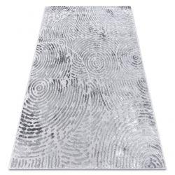 Modern Teppich MEFE 8725 Kreise Fingerabdruck - Structural zwei Ebenen aus Vlies grau