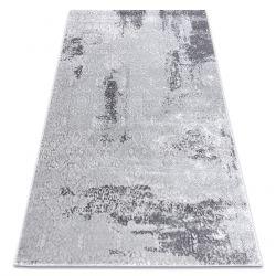 Modern Teppich MEFE 8731 Vintage - Structural zwei Ebenen aus Vlies grau