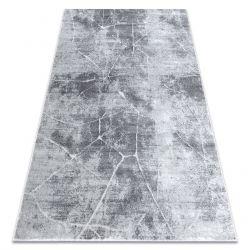 Modern Teppich MEFE 2783 Marmor - Structural zwei Ebenen aus Vlies grau