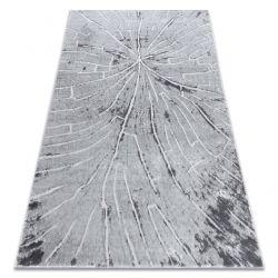 Modern Teppich MEFE 2784 Baum Holz - Structural zwei Ebenen aus Vlies grau