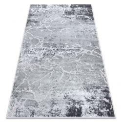 Modern Teppich MEFE 6182 Beton - Structural zwei Ebenen aus Vlies grau