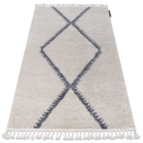 Teppich BERBER MEKNES B5910 sahne / grau Franse berber marokkanisch shaggy zottig
