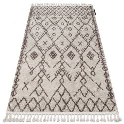 Teppich BERBER TANGER B5940 sahne / braun Franse berber marokkanisch shaggy
