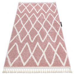 Teppich BERBER BENI rosa Franse berber marokkanisch shaggy zottig