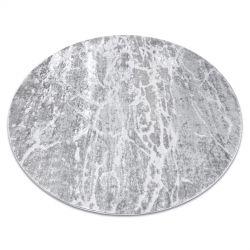Modern Teppich MEFE Kreis 6182 Beton - Structural zwei Ebenen aus Vlies grau