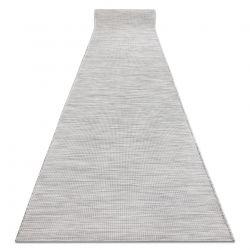 Läufer SIZAL flach gewebt PATIO einheitlich Modell 2778 grau