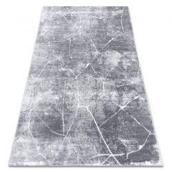 Modern Teppich MEFE 2783 Marmor - Structural zwei Ebenen aus Vlies dunkelgrau