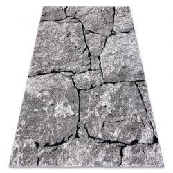 Modern Teppich COZY 8985 Brick Pflasterung Backstein, Stein - Structural zwei Ebenen aus Vlies grau