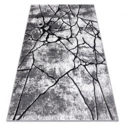 Modern Teppich COZY 8873 Cracks, gerissener Beton- Structural zwei Ebenen aus Vlies dunkelgrau