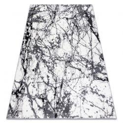 Modern Teppich COZY 8871 Marble, Marmor - Structural zwei Ebenen aus Vlies grau