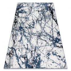 Modern Teppich COZY 8871 Marble, Marmor - Structural zwei Ebenen aus Vlies blau