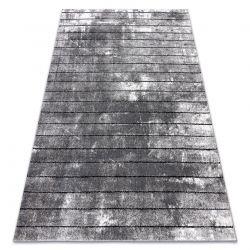 Modern Teppich COZY 8654 Raft, Linien - Structural zwei Ebenen aus Vlies grau