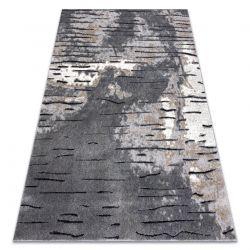 Modern Teppich COZY 8876 Rio - Structural zwei Ebenen aus Vlies grau