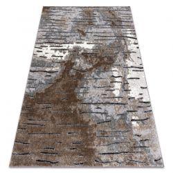 Modern Teppich COZY 8876 Rio - Structural zwei Ebenen aus Vlies braun