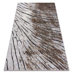 Modern Teppich COZY 8874 Timber, Holz - Structural zwei Ebenen aus Vlies braun