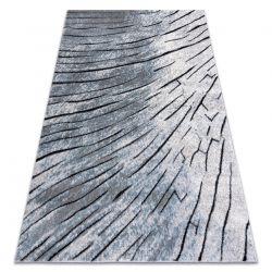 Modern Teppich COZY 8874 Timber, Holz - Structural zwei Ebenen aus Vlies grau / blau