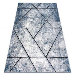 Modern Teppich COZY 8872 Wall, Geometrisch, Dreiecke - Structural zwei Ebenen aus Vlies blau