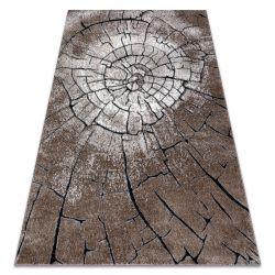 Modern Teppich COZY 8875 Wood, Baumstamm - Structural zwei Ebenen aus Vlies braun