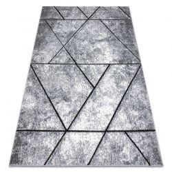Modern Teppich COZY 8872 Wall, Geometrisch, Dreiecke - Structural zwei Ebenen aus Vlies grau / blau