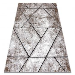 Modern Teppich COZY 8872 Wall, Geometrisch, Dreiecke - Structural zwei Ebenen aus Vlies braun