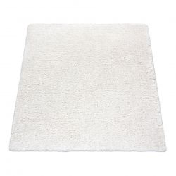 Quadratischer Teppich SUPREME 51201060 shaggy 5cm weiß