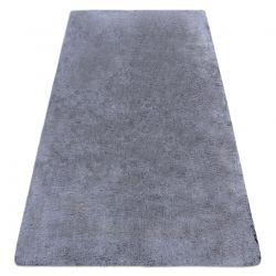 Moderner Waschteppich LAPIN Shaggy, Antirutsch schwarz / elfenbein