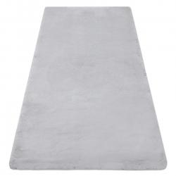 Moderner Waschteppich TEDDY Shaggy, plüschig, sehr dickes Antirutsch grau