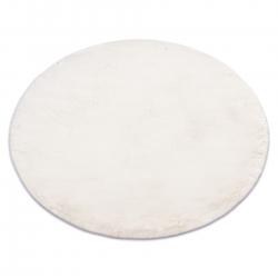 Moderner Waschteppich TEDDY Kreis Shaggy, plüschig, sehr dickes Antirutsch beige