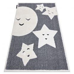 Moderner Kinderteppich JOY Moon Mond, für Kinder - strukturelle, zwei Ebenen aus Vlies grau / creme