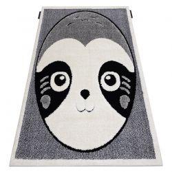 Moderner Kinderteppich JOY Panda für Kinder - strukturelle, zwei Ebenen aus Vlies grau / creme