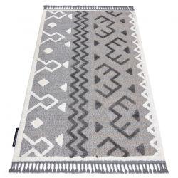 Teppich MAROC P659 aztekisch, ethnisch grau Franse berber marokkanisch shaggy