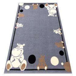 Teppich BCF FLASH Hippo 3993 - Nilpferd grau