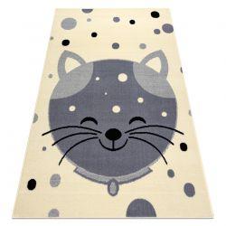 Teppich BCF FLASH Kitten 3998 - Kätzchen creme / grau
