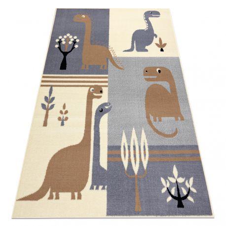 Teppich BCF FLASH Dinosaur 3994 - Dinosaurier grau