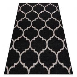 TEPPICH SIZAL FLOORLUX 20608 Marokkanisches Spalier, Trellis schwarz / silber