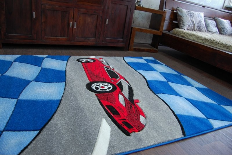 teppich f r kinder happy c227 blau auto f r kinder. Black Bedroom Furniture Sets. Home Design Ideas