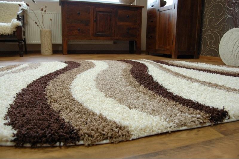 teppich oval shaggy zena 2490 elfenbein beige teppiche shaggy. Black Bedroom Furniture Sets. Home Design Ideas