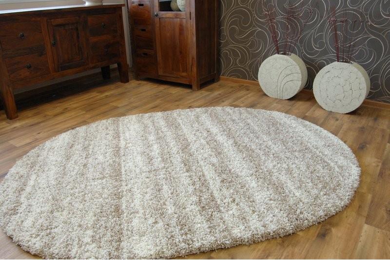 teppich oval shaggy zena 3383 elfenbein beige teppiche shaggy. Black Bedroom Furniture Sets. Home Design Ideas