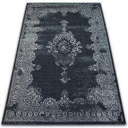 Teppich VINTAGE Rosette 22206/996 schwarz
