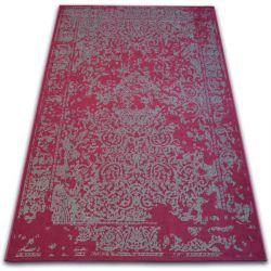 Teppich VINTAGE 22208/082 rotwein / grau klassische Rosette