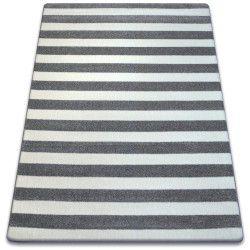 Teppich SKETCH - F758 grau/weiß - Gestreift