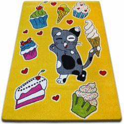 Teppich KIDS Kuchen gelb C415