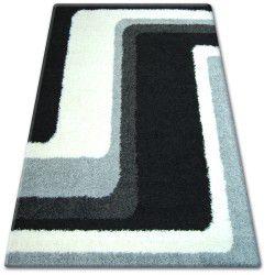 Teppich SHAGGY ZENA 2527 schwarz / grau