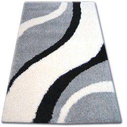 Teppich SHAGGY ZENA 3182 grau / weiß