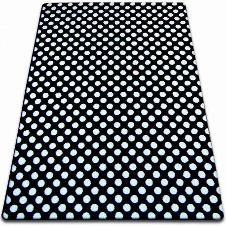 Teppich SKETCH - F764 schwarz / weiß - dots