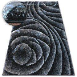 Teppich Shaggy SPACE 3D B217 dunkelgrau schwarz